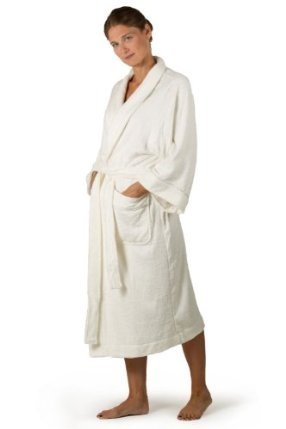 Bamboo Terry Cloth Robe for Women - Ecovaganza - Terry Bath Spa Robe in Natural White (Bamboo Viscose + Cotton) - An Eco Friendly Gift of Luxury - Womens Terry Bathrobe TexereSilk  (67)Buy new: $99.00  $64.00 (Visit the Most Wished For in Sleep  Lo...