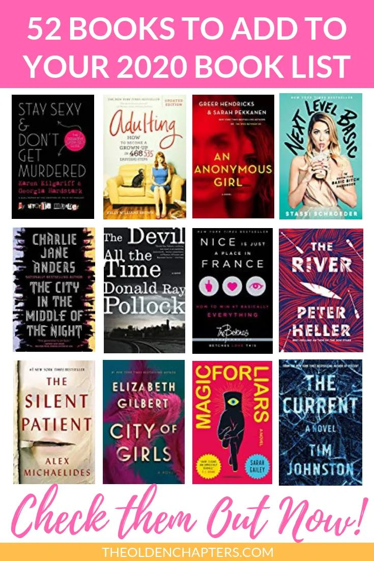 2020 book list 52 new and exciting titles to read this
