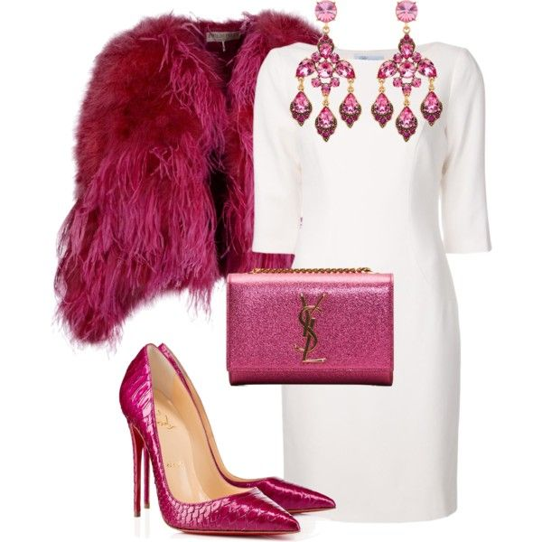 A fashion look from November 2014 featuring Blumarine dresses, Emilio Pucci coats and Christian Louboutin pumps. Browse and shop related looks.