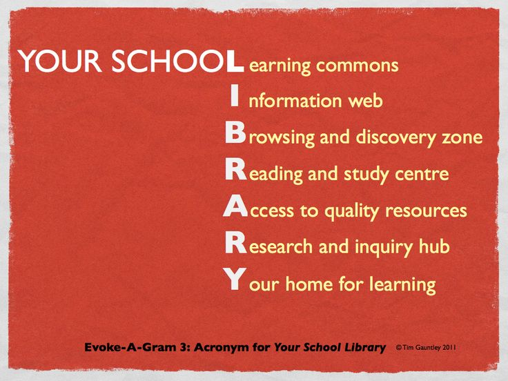 L-learning commons, I-information web, B-browsing and discovery zone...