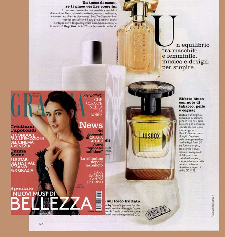 Beat Café by Jusbox Perfumes spotted on the September issue of Grazia Italy!