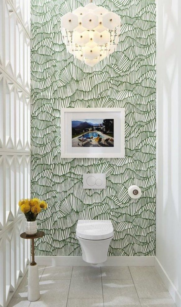 Wall Cabinets Increase Utility And Design And Style Towards Your Walls In 2020 New Bathroom Wallpaper Bathroom Wallpaper Wallpaper Accent Wall Bathroom