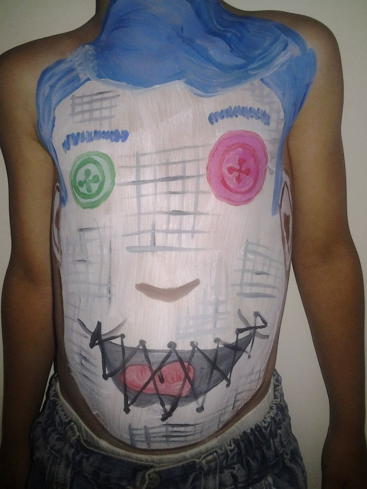 monster high bodypaint :P