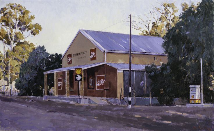 Sonskyn Kaffe, Hermon | Oil on canvas 500mm x 800mm Artist: John Kramer www.johnkramer.net