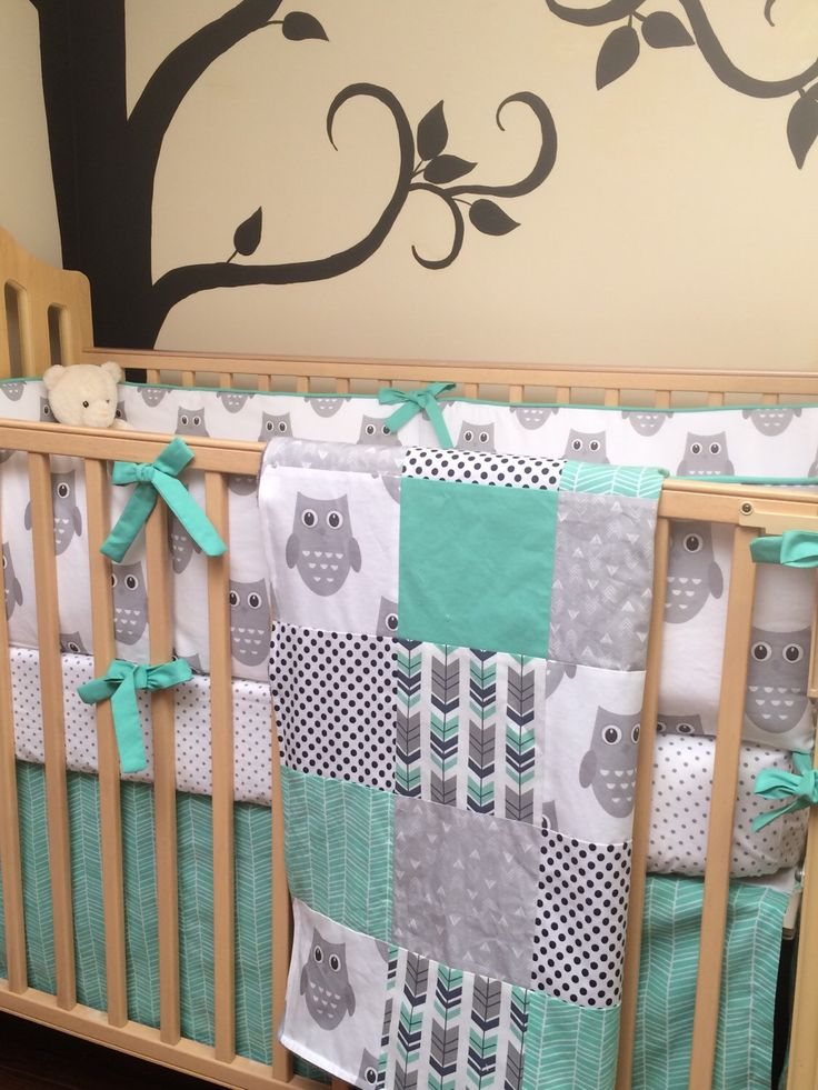 A personal favorite from my Etsy shop https://www.etsy.com/ca/listing/462056883/owl-baby-boy-crib-bedding-sheet