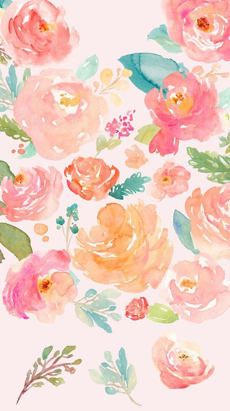 Best 25 flower wallpaper ideas on pinterest pretty - High resolution watercolor flowers ...