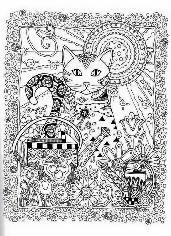 Advanced Cat Coloring Pages : Best images about adult coloring pages cats