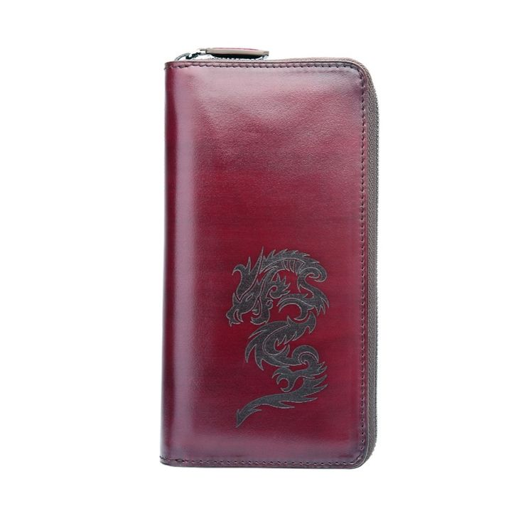 (141.00$)  Buy here  - TERSE_High quality fashion leather long wallet men large capacity busiess purse engraving service factory price OEM ODM