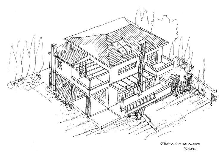 House in Kapandriti, Athens, Greece, 2006. Design by Harry Papaioannou & Associates.