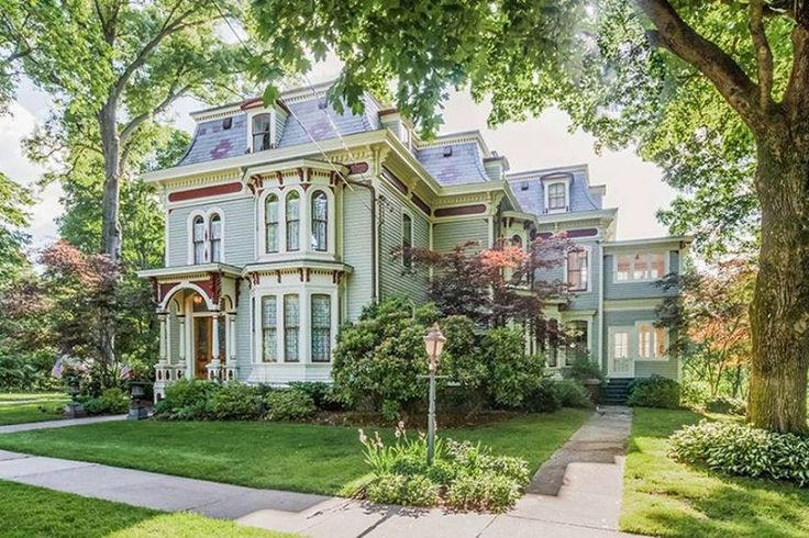 2016 Main Street, Glastonbury, Connecticut **WEDNESDAY WOW LUNCH BREAK** c.1876. Thanks to Joyce for sending this one in! 5,634 square feet. 6 bedrooms, 3.5 baths on 3.79 acres. This landmark home is sited close to the center Glastonbury on 3.79 Main St Acres! Beautiful landscaped grounds w perennial gardens, gazebo & 3 car barn/garage. The Hale- Goodrich home has been updated with today's conveniences but still offers much historic charm and appeal. The perfect marriage of antique and new…