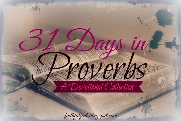31 Days in Proverbs Devotional Collection #bible #devotions #christian