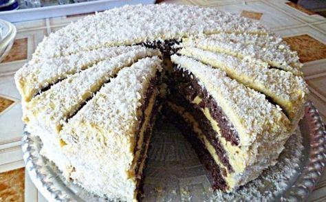 Zdravý fitness kokosový dort