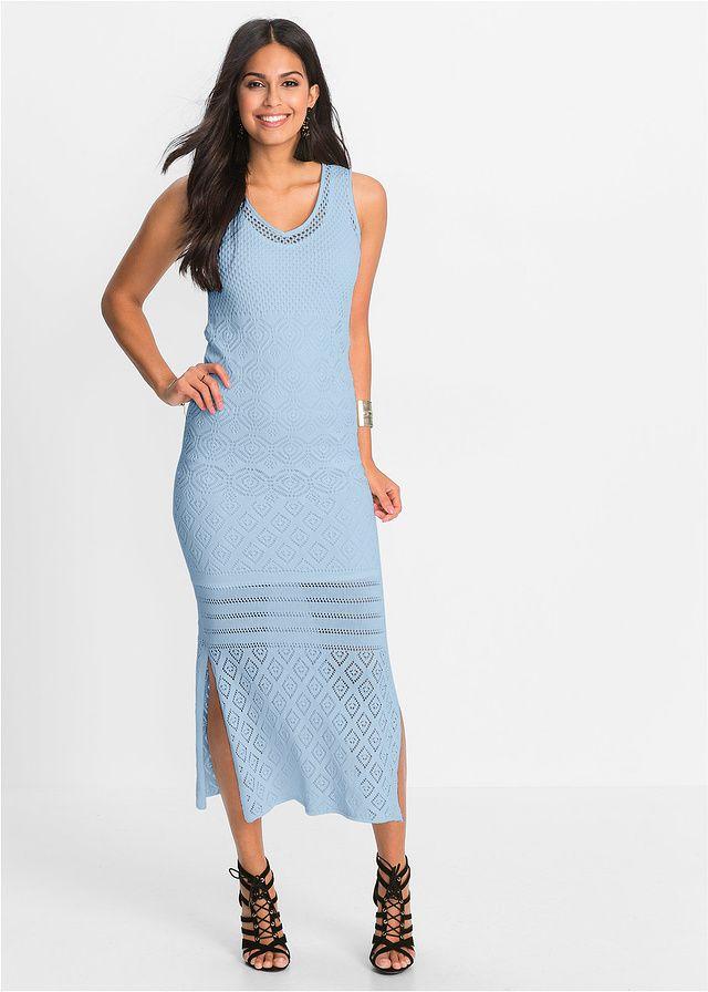 Długa sukienka dzianinowa Dopasowana do • 89.99 zł • bonprix