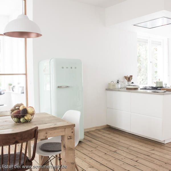 66 best Küche images on Pinterest Kitchen dining, Live and - küche mit side by side kühlschrank