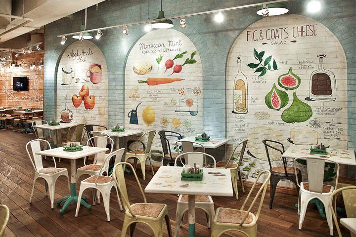 Un restaurante súper acogedor en el que puedes inspirarte eligiendo acabados como el Manhattan y todos los porcelanatos de madera disponibles en nuestro showroom. Restaurant by G Sign, St. Petersburg, Russia