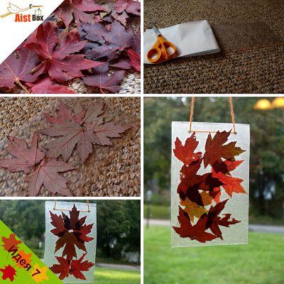 Сделайте яркую подвеску из осенних листьев, которая украсит ваш дом.