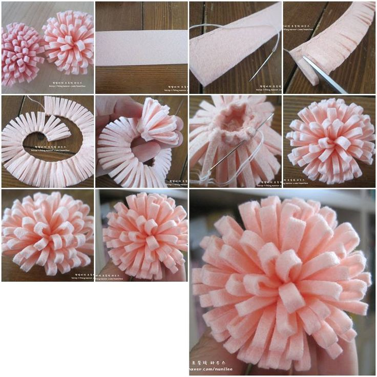 How to make Simple Easy Felt Flower step by step DIY tutorial instructions, How to, how to make, step by step, picture tutorials, diy instructions, craft, do it yourself