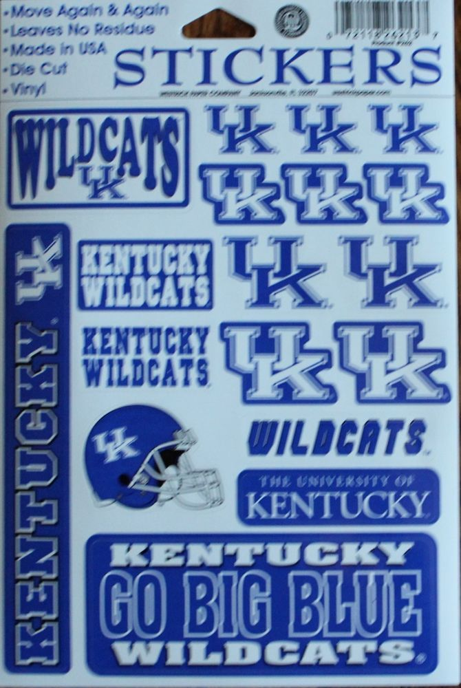Stickers Set University of Kentucky Wildcats Decal Football NCAA Crafts Phone   | eBay