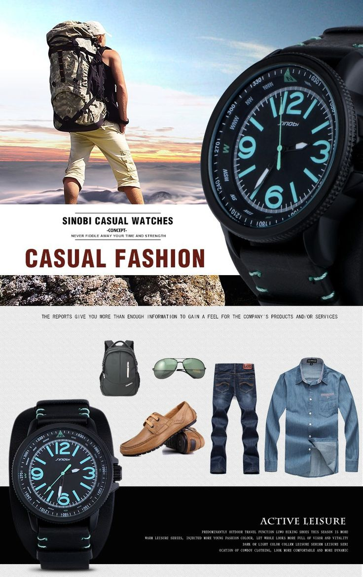 Famous Brand SINOBI 2016 new relogio masculino Casual Fashion Military Men Quartz Watch young Sport Climbing Athletic black Rubber runner blue time