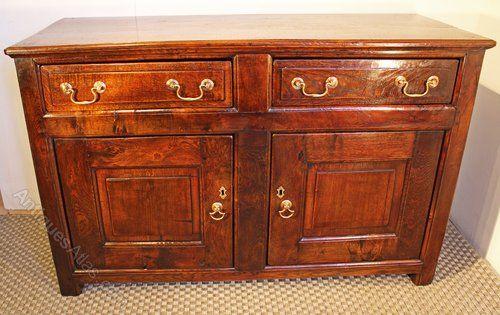 Oak Cupboard Dresser Base. - Antiques Atlas