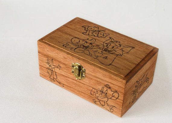 Wooden Box Wooden Box Disney Tom and Jerry Disney by Vizista8Craft