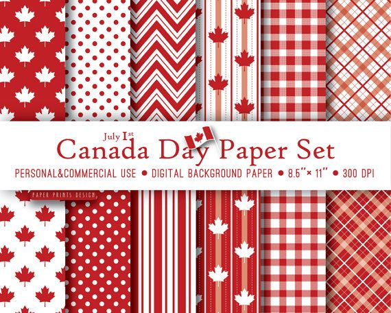 12 Canada day paper 8.5x11 Canada day party by PaperPrintsDesign