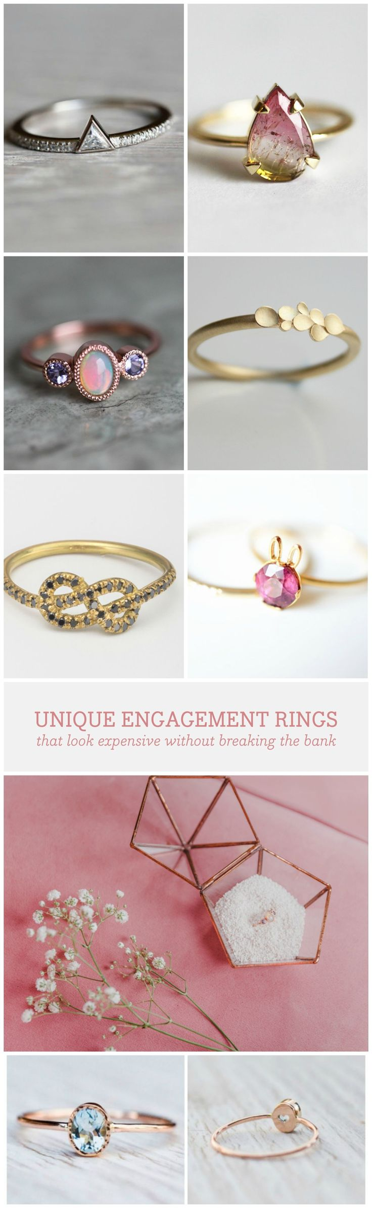 Nontraditional engagement rings are stealing the romantic scene – and the best part of it all? They're all under 1000 Euro. So don't waste time and check out these amazing options! via en.dawanda.com