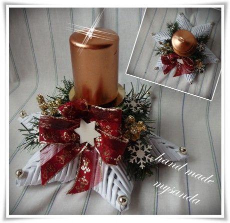 vánoce-svícen hvězda bordo