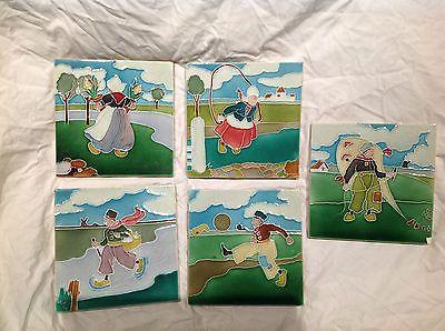 C1905 Antigo Telhas De Artes E Ofícios tubeline Liberty & Co Crianças Holandês