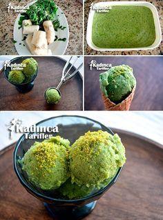 Pratik Yeşil Dondurma (Ispanaklı Dondurma) Tarifi