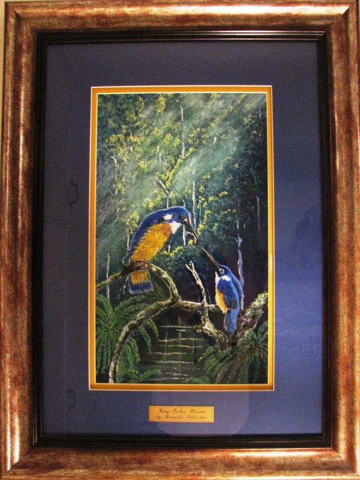 Brenda Roberton original pastel titled  King Fisher Haven . Australia