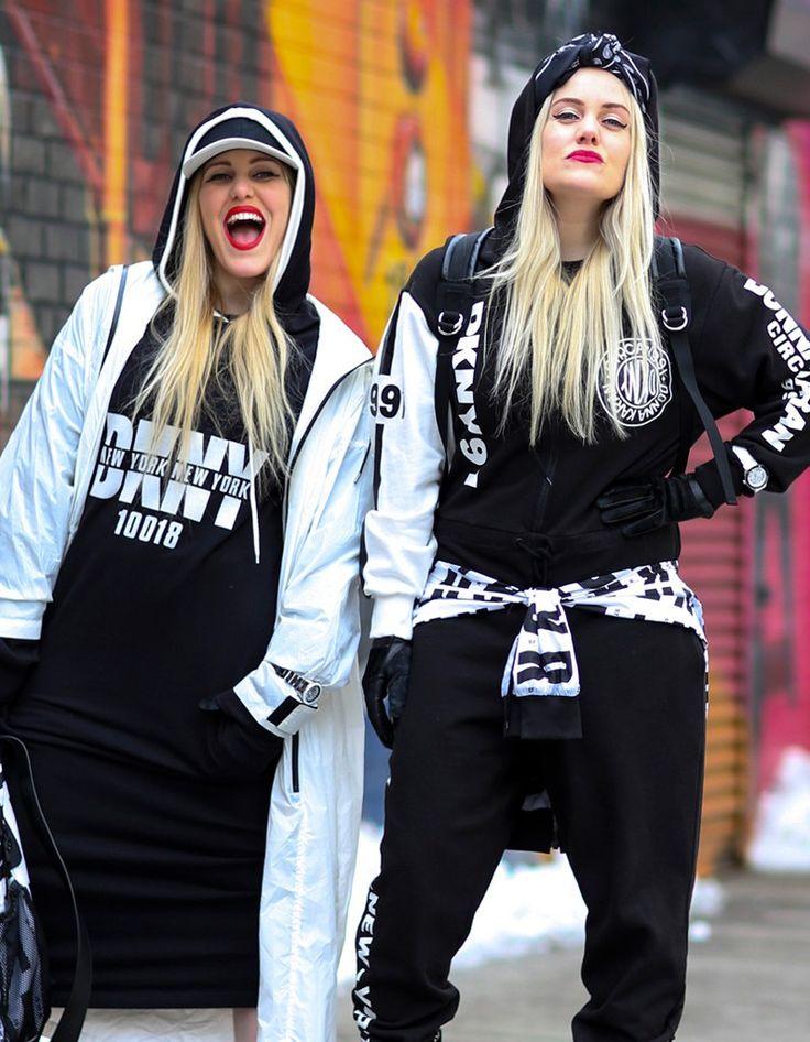 Coloration hiver les filles de la rue en blond platine