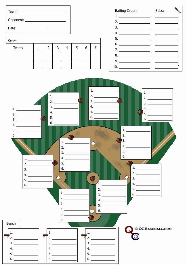 Baseball Depth Chart Template Excel Luxury Softball Lineup Card Softball Stuff Baseball Card Template Baseball Lines Baseball Lineup