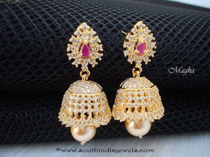 CZ Stone Jhumka with Price Jhumkas Collections