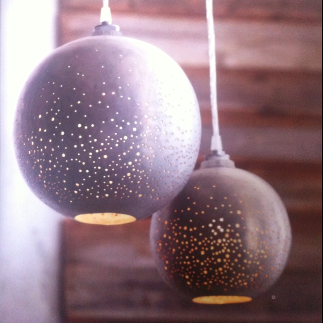 Roost perforated metal globe light: Metals Lights, Cooool Lights, Awesome Lights, Bubbles Breads, Perforated Globes, Globes Lights, Beautiful Lights, Perforated Metals, Metals Globes