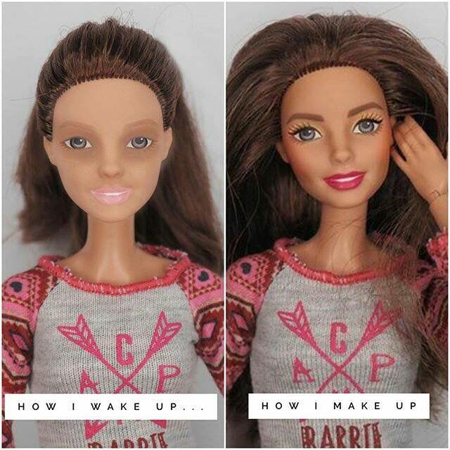 Barbie loves Younique makeup too!! How I wake up how I make up!