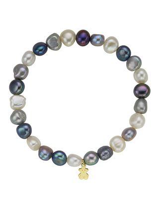 Pulsera de perlas grises de Tous