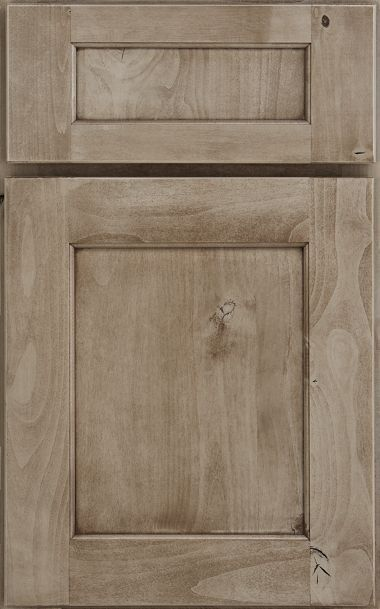 knotty alder park place reversed raised panel in peppercorn stain medallion cabinetry - Raised Panel Kitchen Decor
