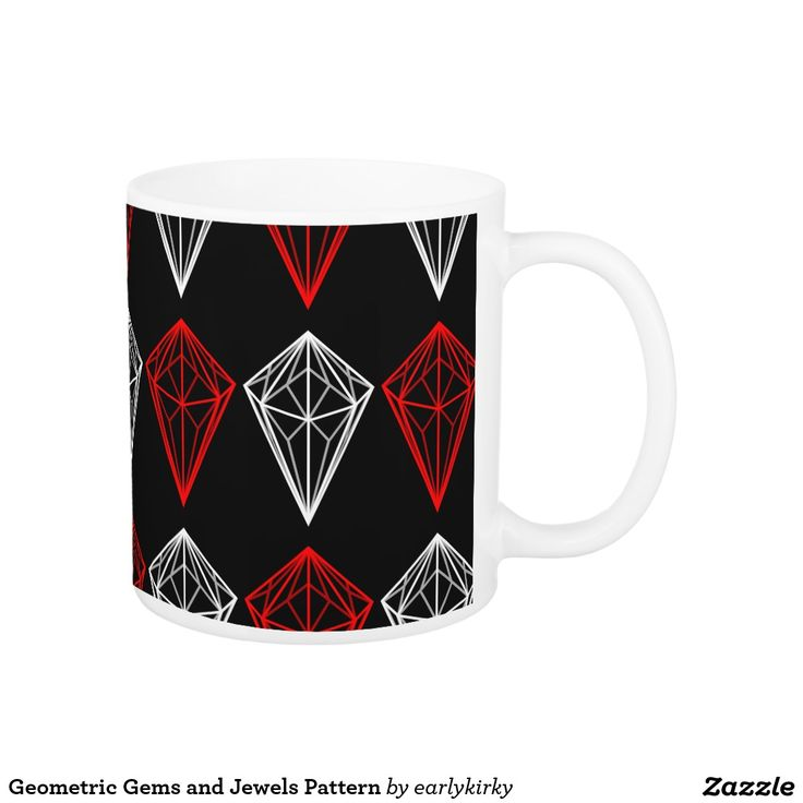 Geometric Gems and Jewels Pattern Coffee Mug