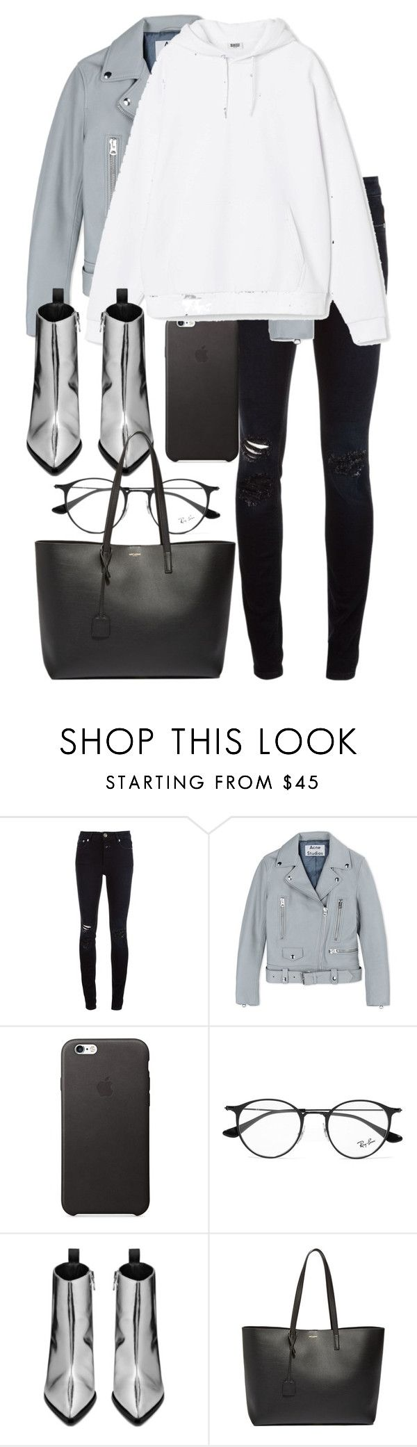 """Untitled #2969"" by elenaday on Polyvore featuring Closed, Acne Studios, Ray-Ban and Yves Saint Laurent"