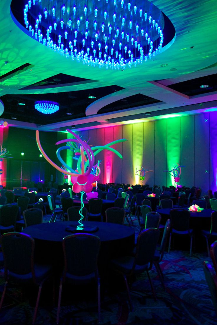 Neon Centerpiece with wire lght by Party People Celebration Company