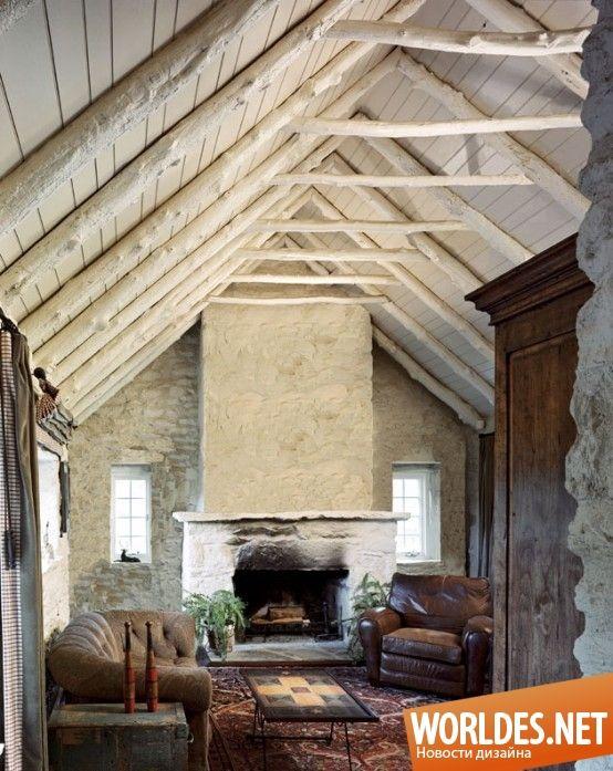 Уютные гостиные в деревенском стиле фото 17