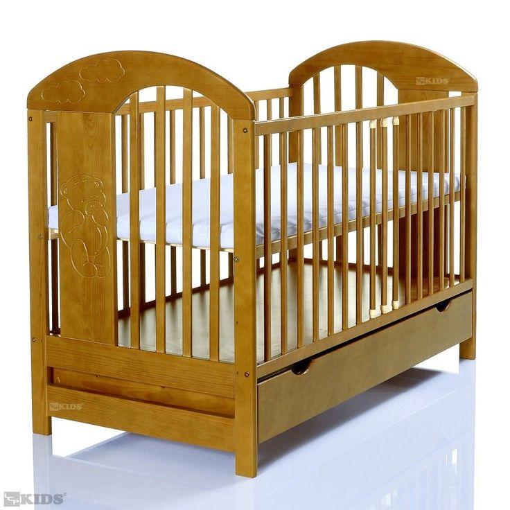 Babybett Kinderbett 120x60 LASSE Hell Goldbraun XXL Schublade Kasten  Gitterbett In Baby, Möbel, Betten