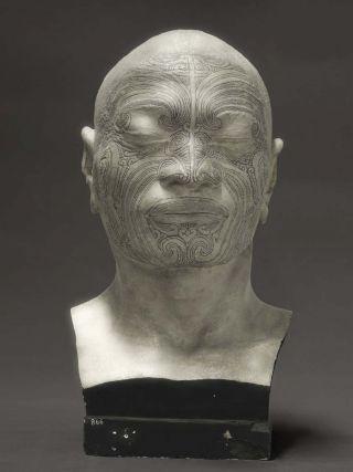 Fiona Pardington, Portrait of a life-cast of Matua Tawai, Aotearoa/New Zealand from the 'Ahia: A beautiful hesitation' series 2010.  Photograph: Archival pigments on 308gsm Hahnemuhle photo rag,  146 x 110cm (ed. 1/10)