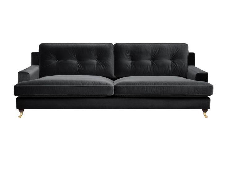 CONNOR 3,5-sits Soffa Sammet Mörkgrå i gruppen Inomhus / Soffor / Howardsoffa hos Furniturebox (110-28-130234)