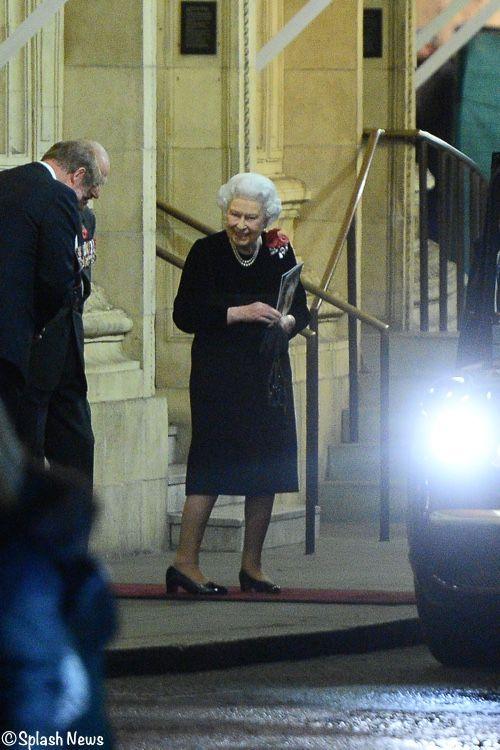 whatkatewore: Festival of Remembrance 2017, November 11, 2017-Queen Elizabeth and the Duke of Edinburgh leaving