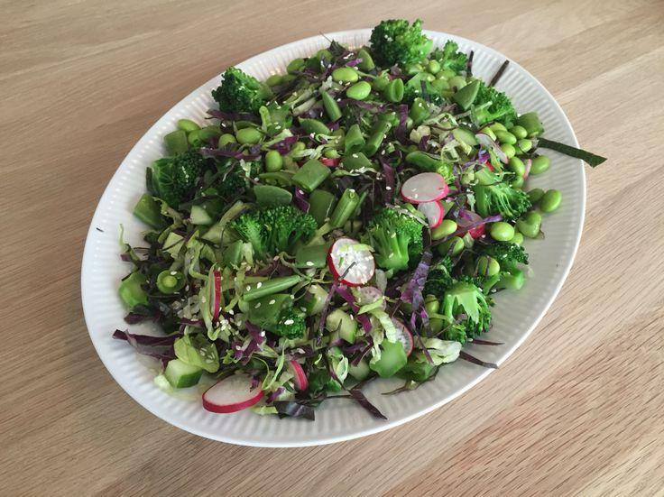 Grøn salat med  radiser