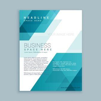 Folheto do negócio com formas abstratas                              …