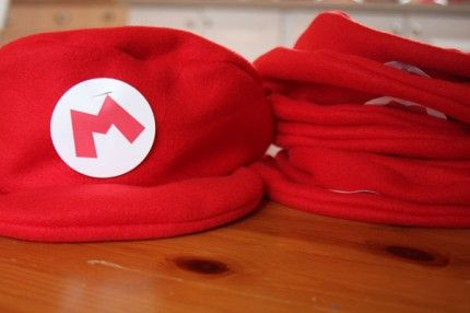 Made these cute Mario Brothers hats for B's party