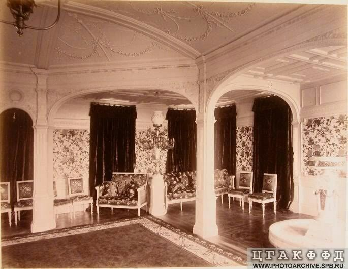 """The Drawing Room on the Imperial Royal yacht,the Livadia.  """"AL"""""""